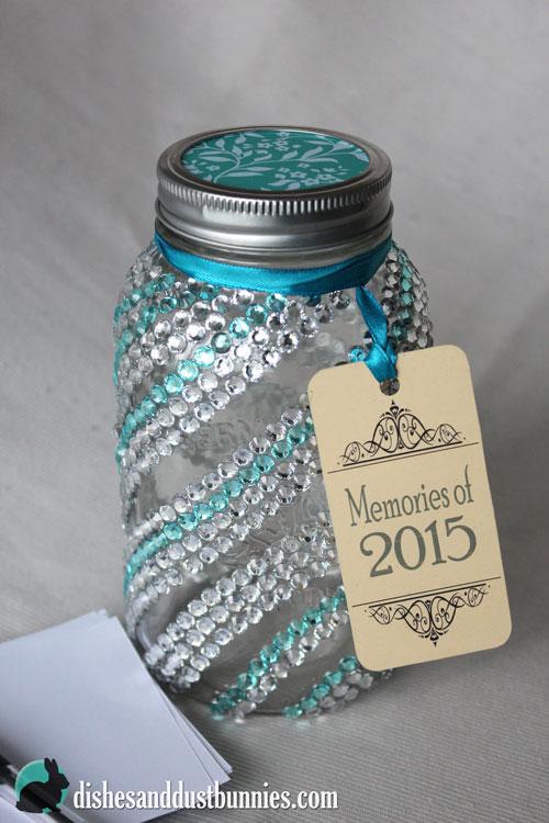Make This Mason Jar Craft Dollar Store Diy New Year Memory Jar Dishes Dust Bunnies