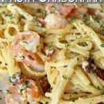 Shrimp and Bacon Pasta Carbonara