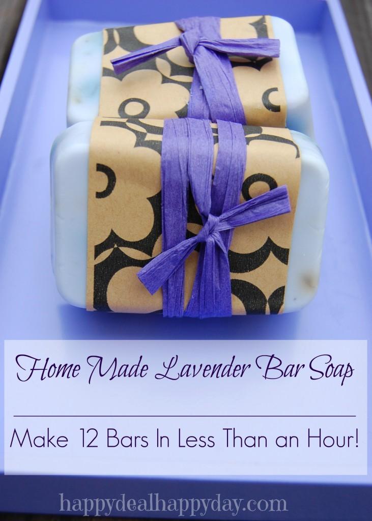 EASY Lavender Homemade Soap Recipe - Happy Deal Happy Day