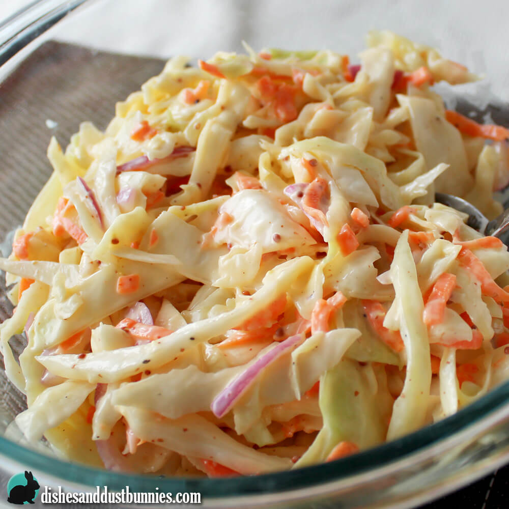 Classic Coleslaw Recipe from Dishes & Dust Bunnies