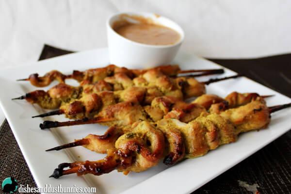 Thai Chicken Satay Skewers