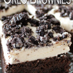 Fudgy Oreo Brownies with Oreo Cream Frosting