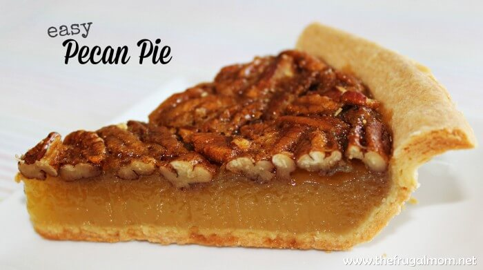 Easy Pecan Pie from The Frugal Mom