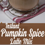 Homemade DIY Instant Pumpkin Spice Latte Mix from dishesanddustbunnies.com