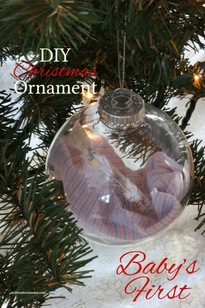DIY Christmas Ornaments – Baby's First from Midwestern Moms