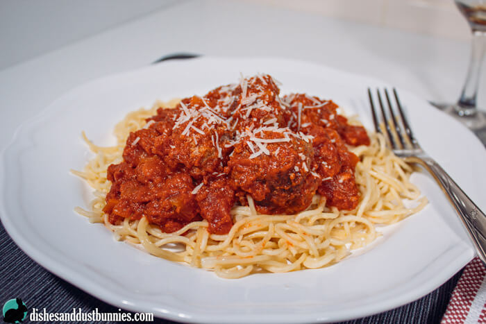 My Favorite way to prepare Spaghetti and Meatballs from dishesanddustbunnies.com