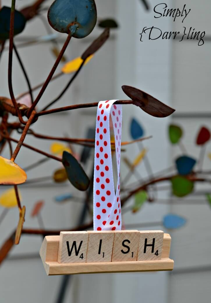 Scrabble Tile Christmas Ornaments from Simply {Darr}ling