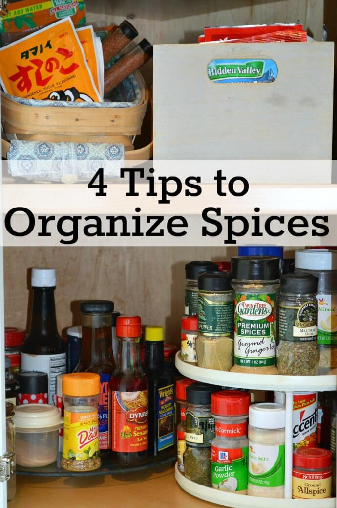 4 Tips to Organize Spices from Organized 31