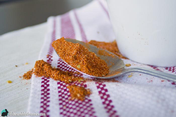Homemade Taco Seasoning Mix from dishesanddustbunnies.com