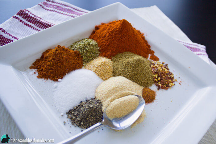 Homemade Taco Seasoning Mix from dishesanddustbunnies.com