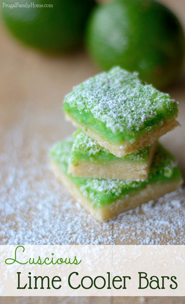 Luscious Lime Cooker Bars from Frugal Family Home