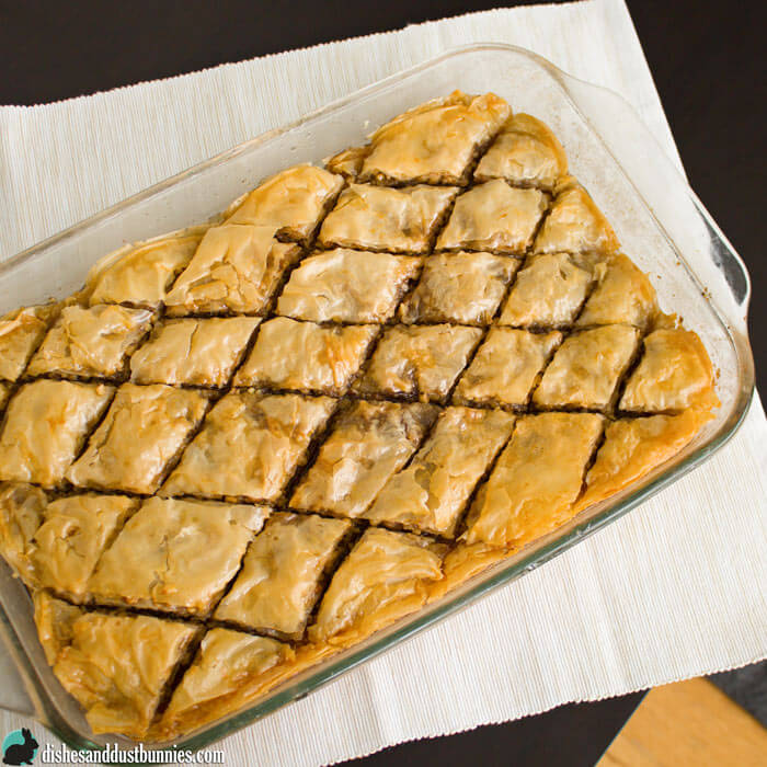 Homemade Baklava from dishesanddustbunnies.com