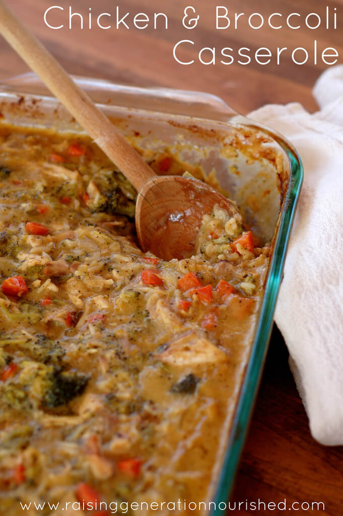 Classic Chicken & Broccoli Casserole from Raising Generation Nourished