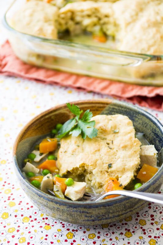 Chicken and Biscuits Casserole from Healthy Seasonal Recipes