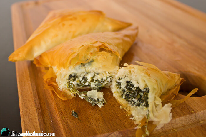 Homemade Spanakopita from dishesanddustbunnies.com