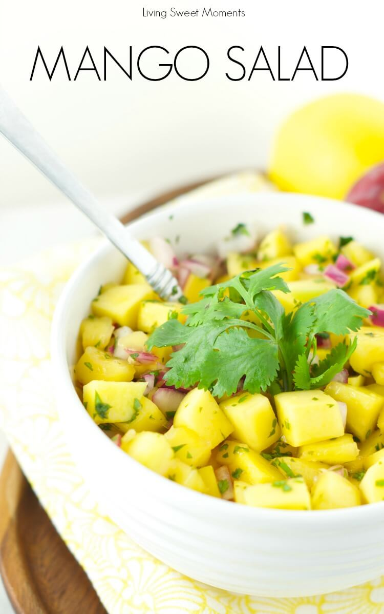 Refreshing Mango Salad from Living Sweet Moments