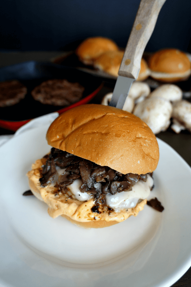 Voodoo Mushroom Burgers from The Baking Fairy