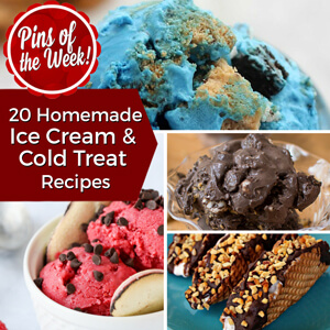 20 Homemade Ice Cream & Cold Treat Recipes – Pins of the Week!