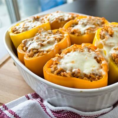 Chicken and Rice Stuffed Peppers