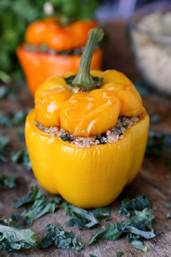 Quinoa Stuffed Pepper Recipe from Pickled Plum