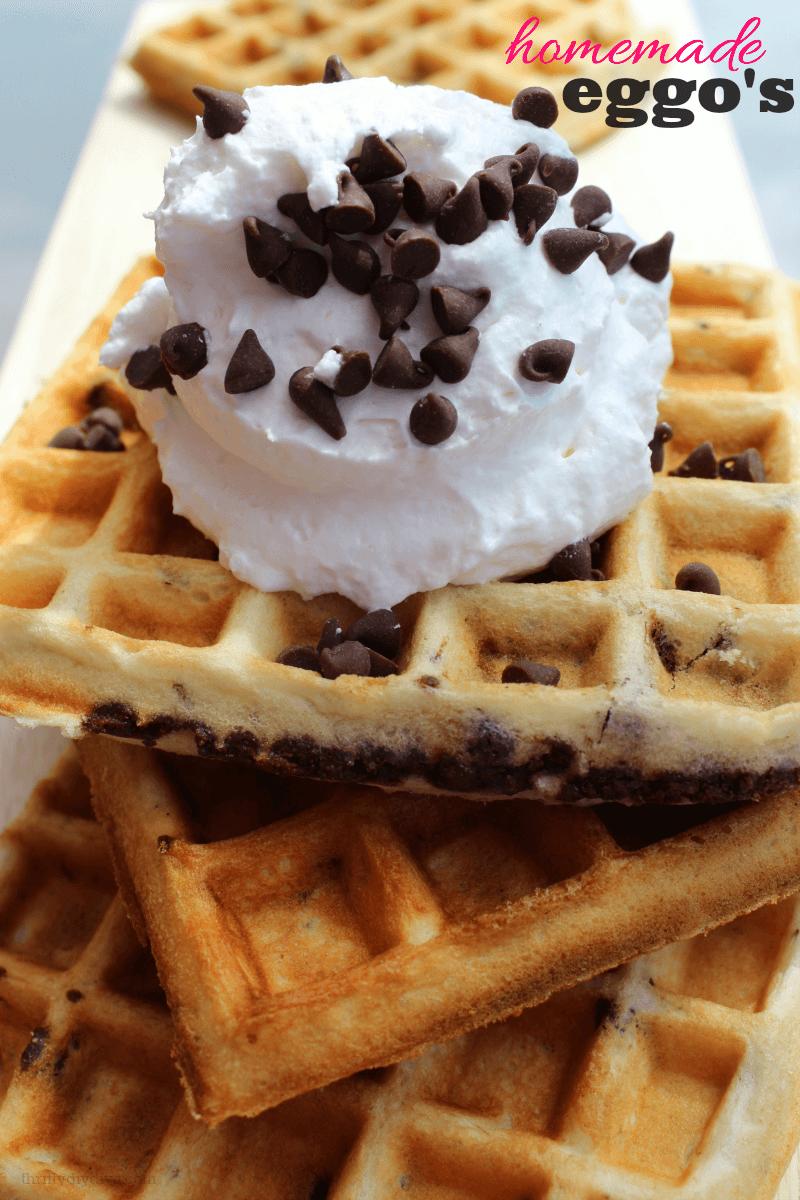 Make Ahead Freezer Waffles Like Eggo's from Thrifty DIY Diva