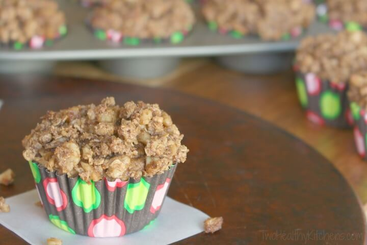 Healthy Apple Cobbler Muffins (With Easy, Make-Ahead Tips!) from Two Healthy Kitchens