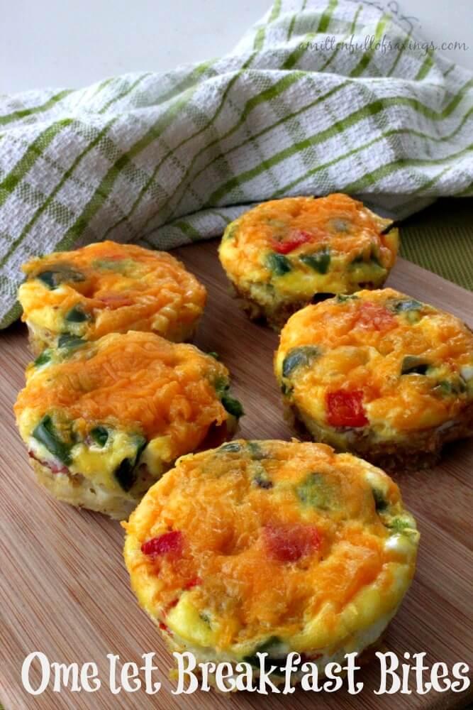 Omelet Breakfast Bites from A Worthy Read