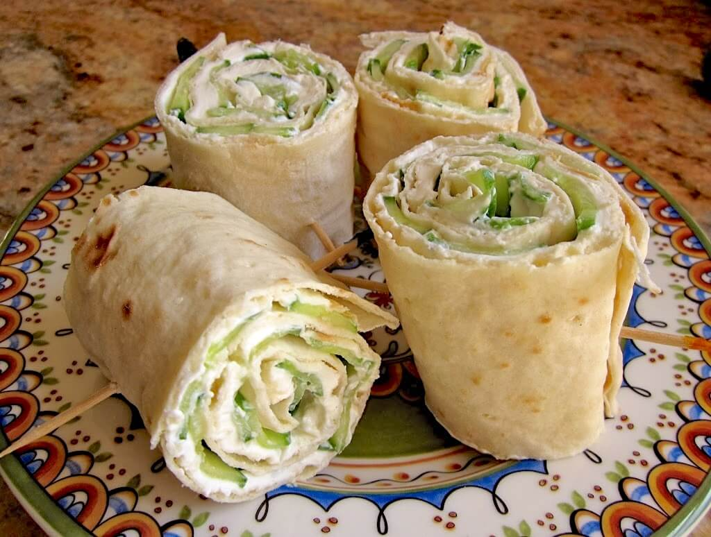 Cucumber and Cream Cheese Sandwich Rolls (with Lavash Bread) from Christina's Cucina