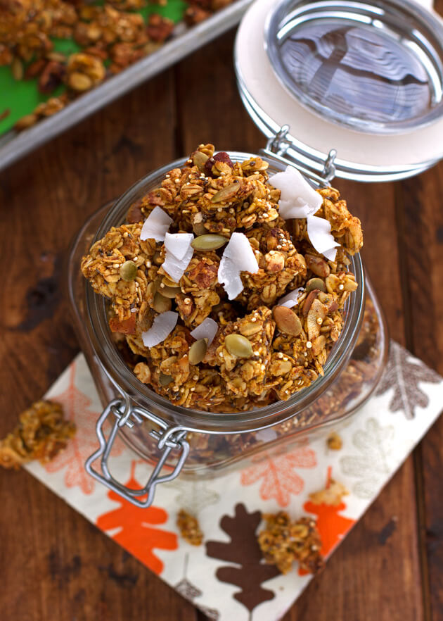 Crunchy Pumpkin Spice Granola with Big Clusters from Little Spice Jar