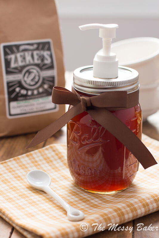 Homemade Pumpkin Spice Syrup from One Sweet Mess