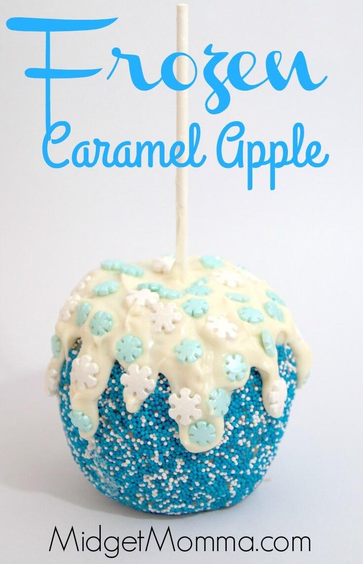 Frozen Themed Caramel Apple from Midget Momma