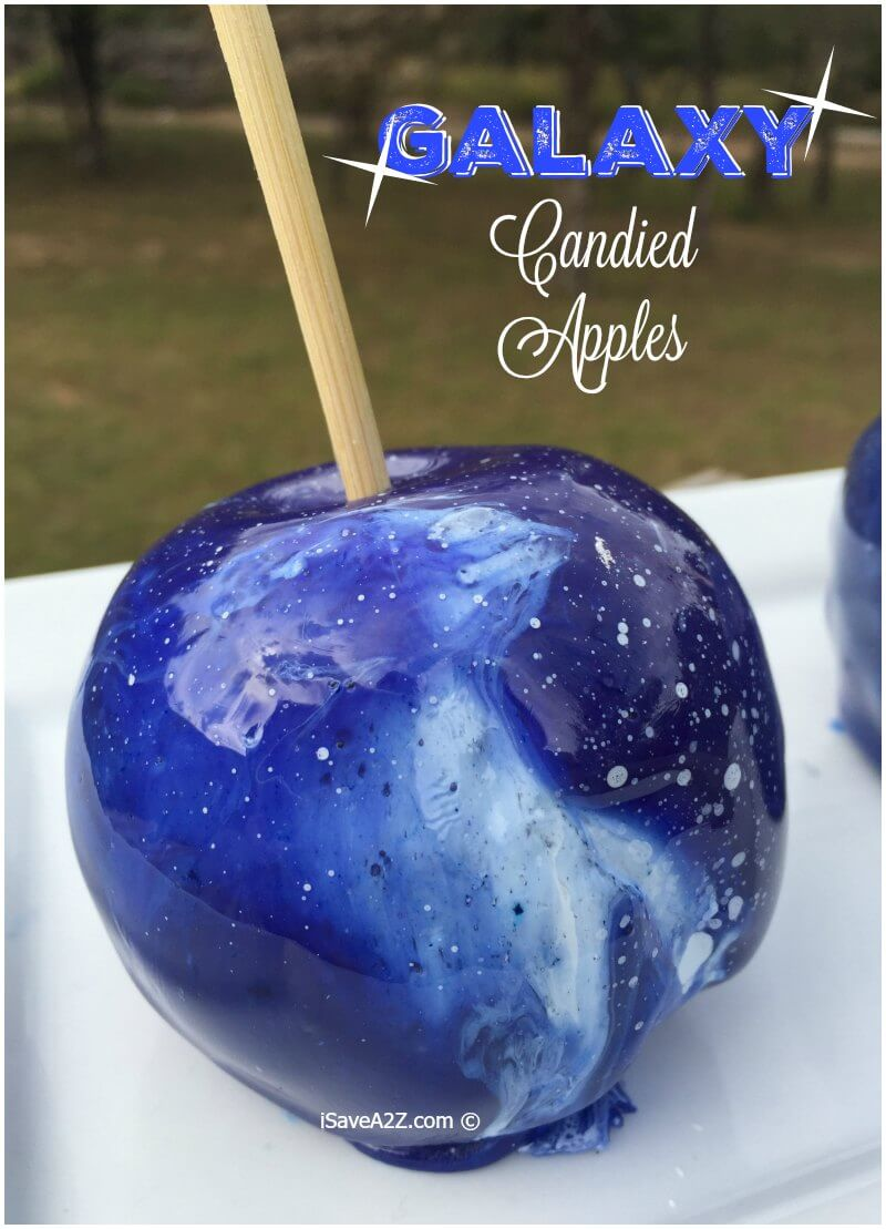 Galaxy Candied Apples from i Save A to Z