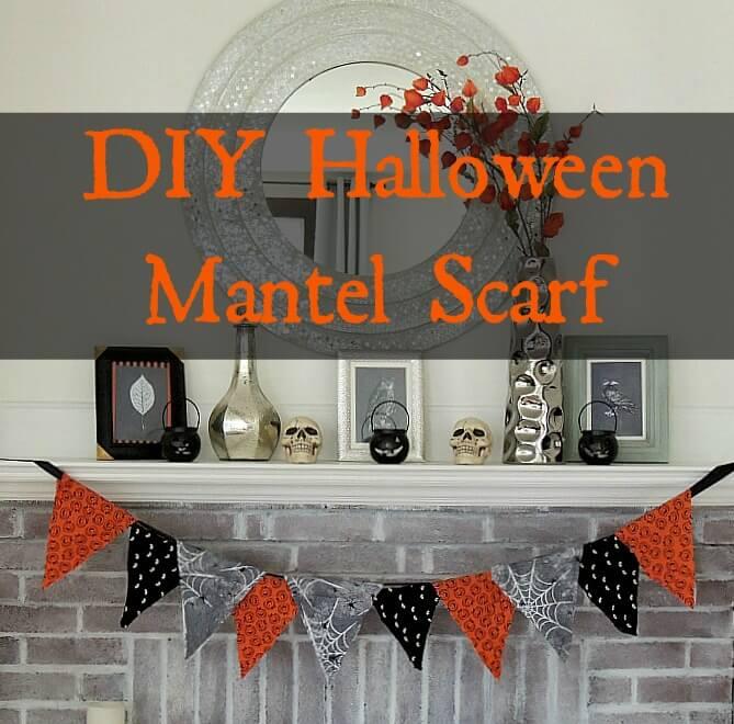 DIY Halloween Mantel Scarf from Wife In Progress