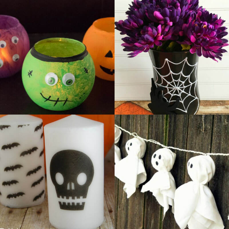 13 Easy DIY Halloween Decoration Ideas - dishesanddustbunnies.com