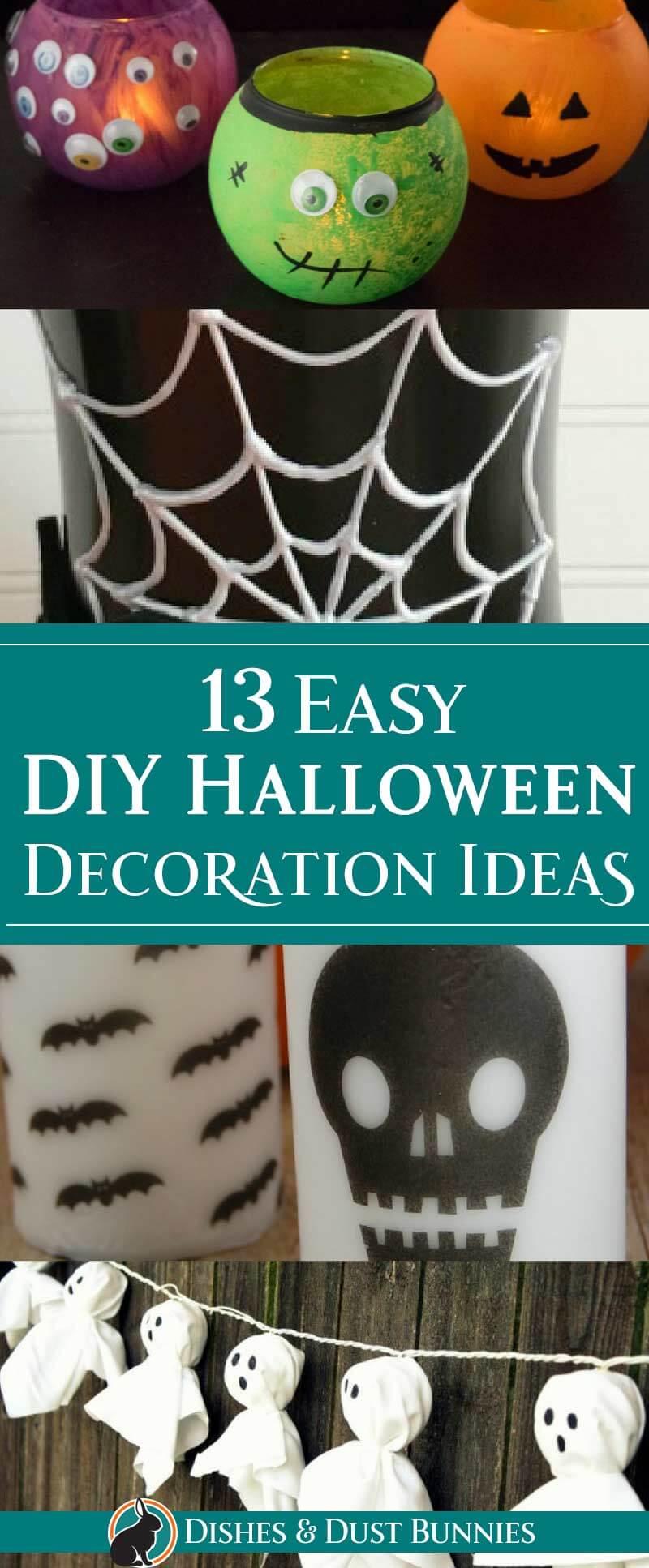 13 Easy DIY Halloween Decoration Ideas - dishesanddustbunnies.com