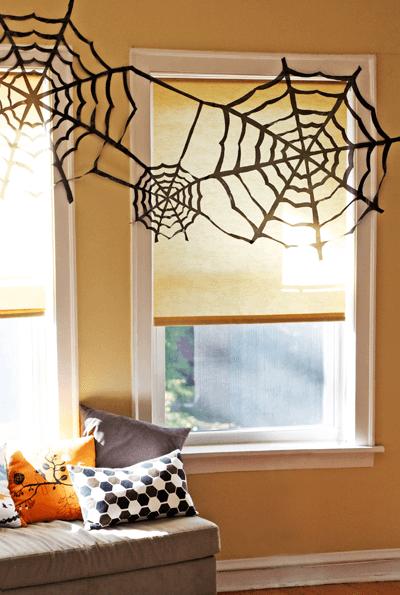 Trash Bag Spider Webs from How About Orange