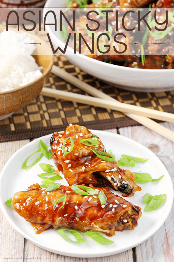 Asian Sticky Wings from Love Bakes Good Cakes