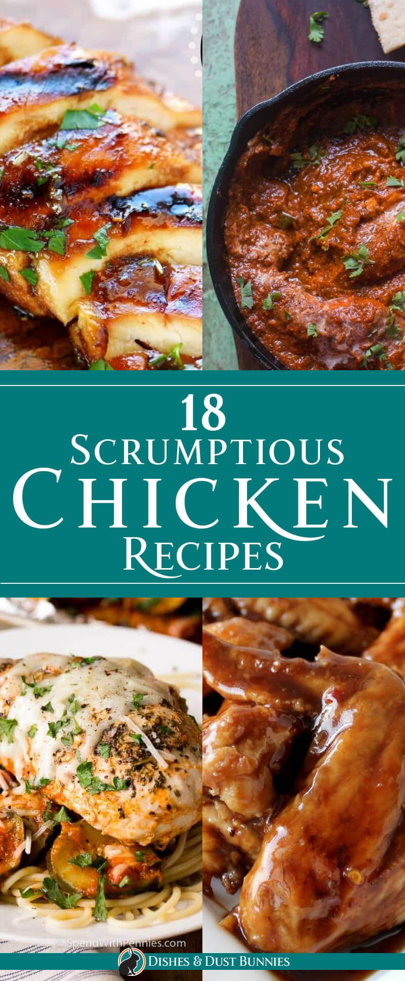 18 Scrumptious Chicken Recipes - dishesandustbunnies.com