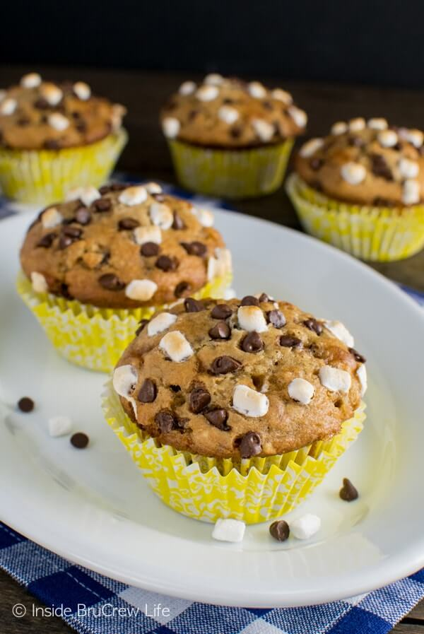 Bamana S'mores Muffins from Inside Bru Crew Life