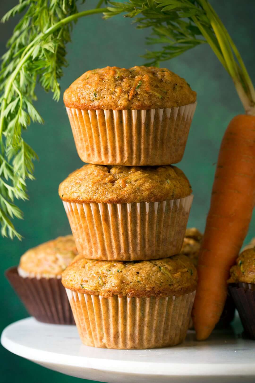 Carrot Zucchini Spice Muffins from Cooking Classy