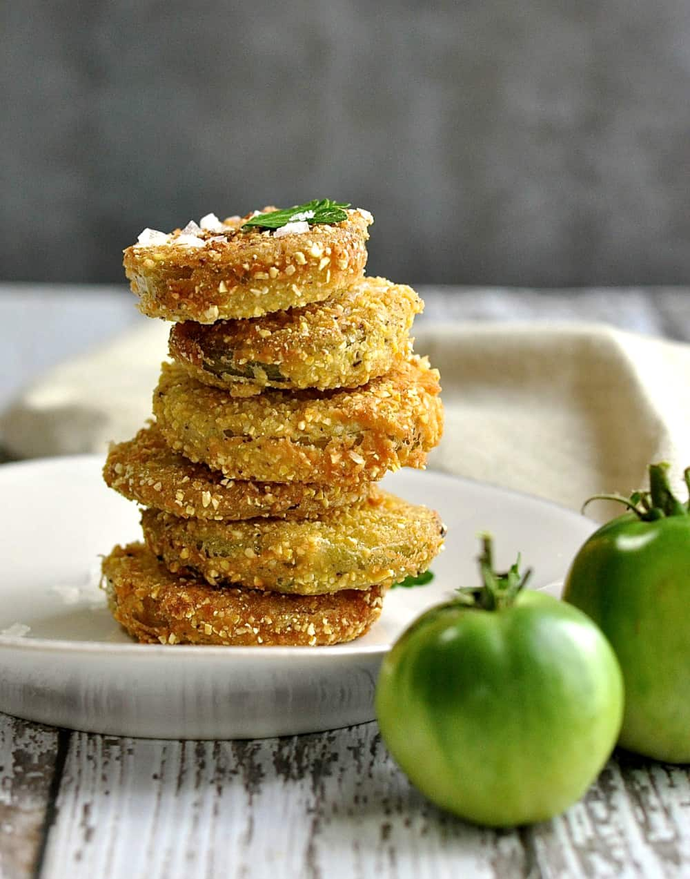 Fried Green Tomatoes from Pinch and Swirl
