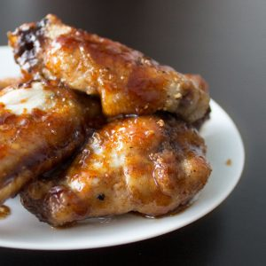 Root Beer Chicken Wings from dishesanddustbunnies.com