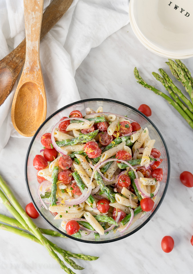 Asparagus Pasta Salad from I Wash You Dry
