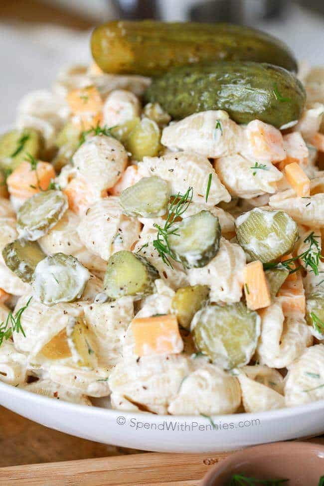 Dill Pickle Pasta Salad from Spend with Pennies