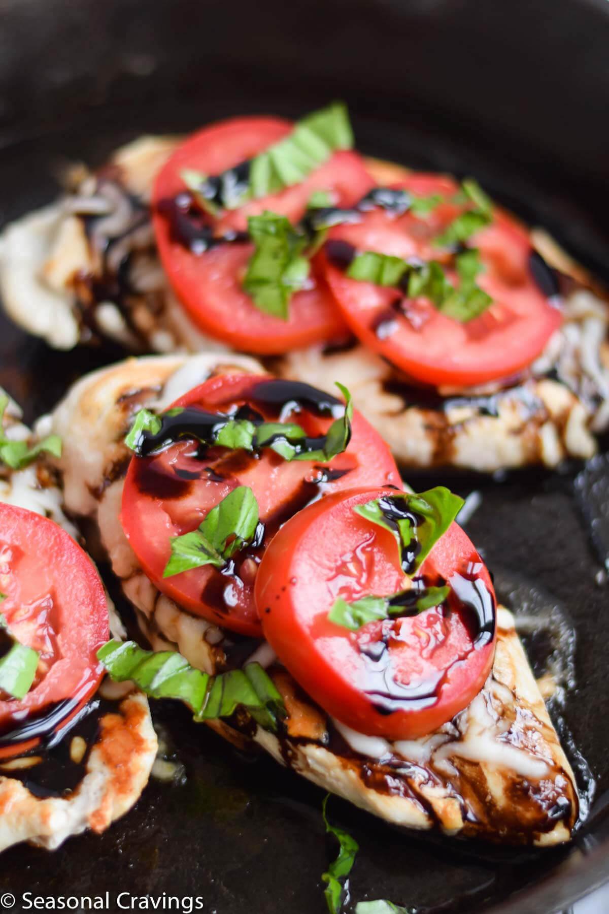 Five Ingredient Caprese Chicken from Seasonal Cravings