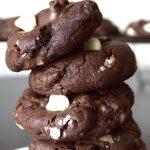 Triple Chocolate Cookies - dishesanddustbunnies.com