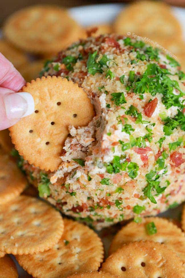 Bacon Jalapeno Cheese Ball Recipe from Spend with Pennies