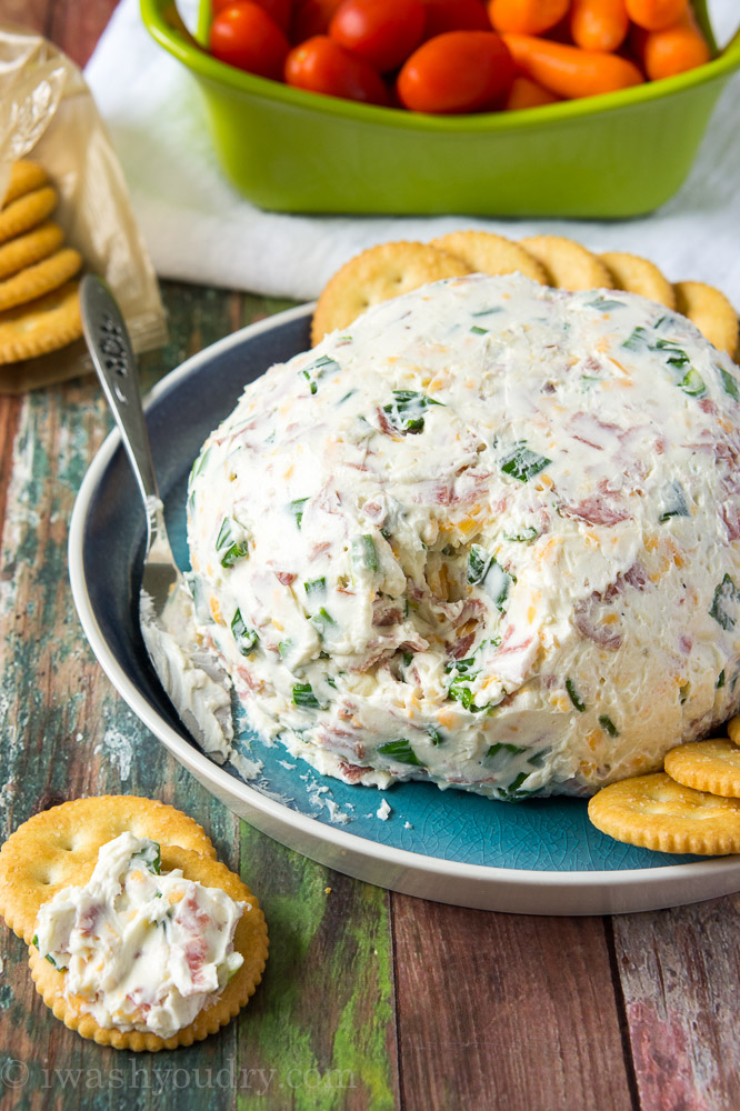 Salami Cream Cheese Ball from I Wash You Dry