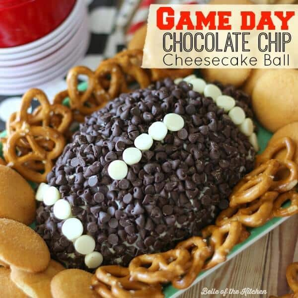 Game Day Chocolate Chip Cheesecake Ball Kenarry