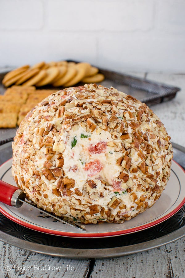 Tomato Basil Cheese Ball from Inside Bru Crew Life
